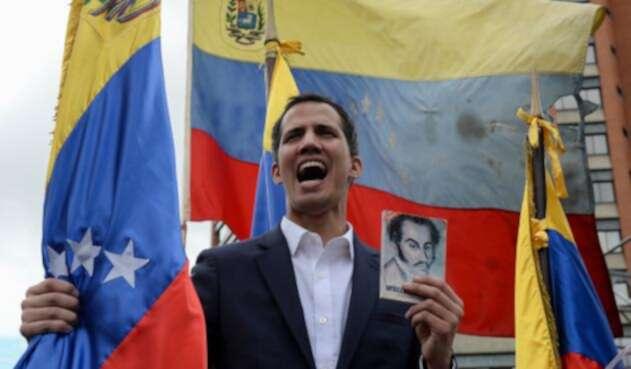 Juan Guaidó, autoproclamado presidente de Venezuela, en Caracas