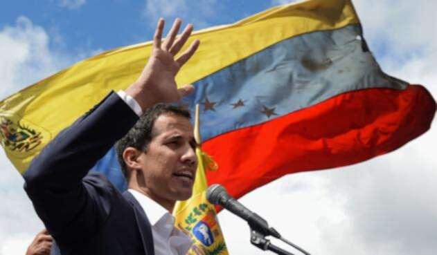 Juan Guaidó, autoproclamado presidente interino de Venezuela, en Caracas