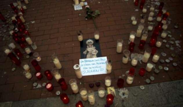 Tributo en Málaga (España) al niño fallecido Julen