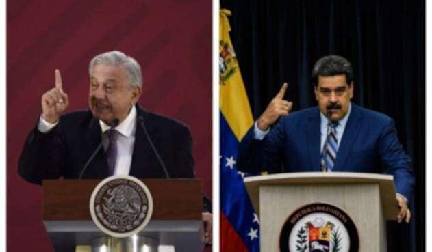 López Obrador y Maduro