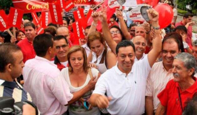 Luis Francisco Bohórquez cuando estaba en campaña para la alcaldía de Bucaramanga