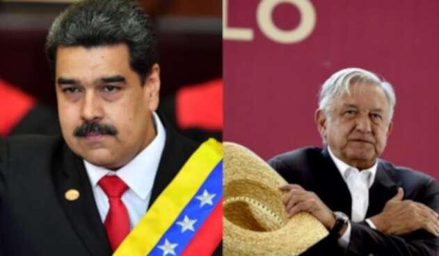 Nicolás Maduro y Andrés López Obrador