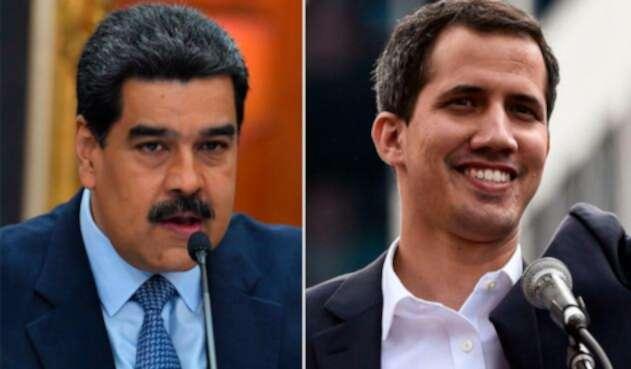 Nicolás Maduro y Juan Gauidó, presidente y declarado presidente interino de Venezuela, respectivamente