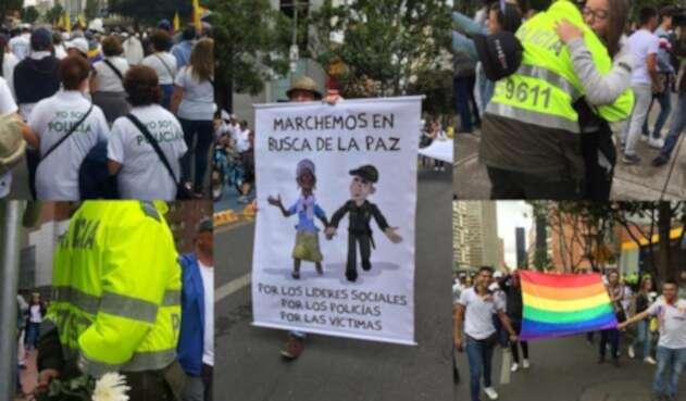 Miles de ciudadanos se lanzaron a las calles a decirle NO al terrorismo en Colombia.