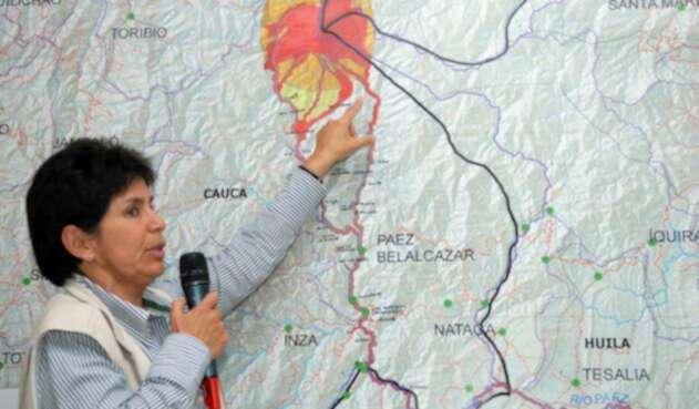 Marta Lucía Calvache, directora de geoamenazas del Servicio Geológico Colombiano