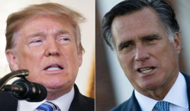 """Mitt Romney acusó a Trump de causar """"consternación"""" en todo el mundo."""