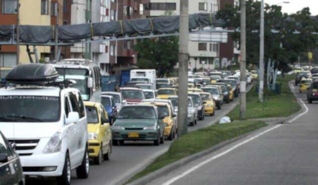 Tráfico en la Avenida Boyacá