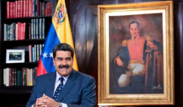 Nicolás Maduro, presidente de Venezuela, en el Palacio de Miraflores, en Caracas