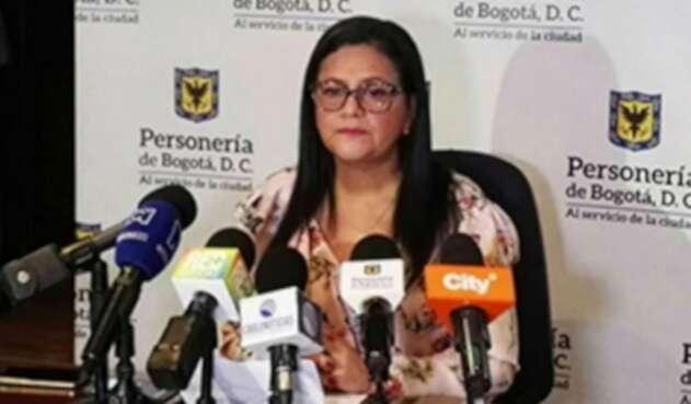 Carmen Teresa Castañeda Villamizar, personera de Bogotá.