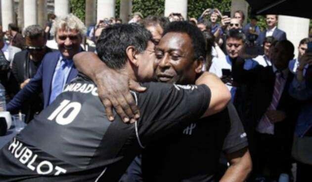 Diego Armando Maradona y Pelé