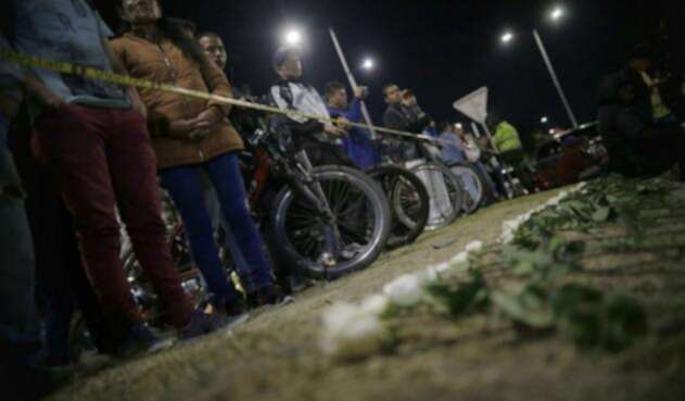 Plantón por atentado en Escuela General Santander