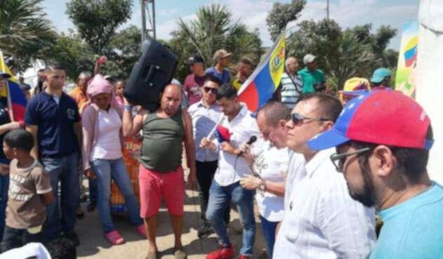 Plantón de Venezolanos en Cúcuta
