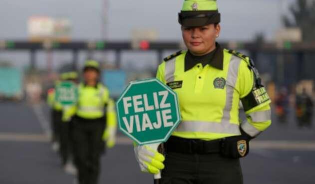 La Policía Nacional en las carreteras de Colombia