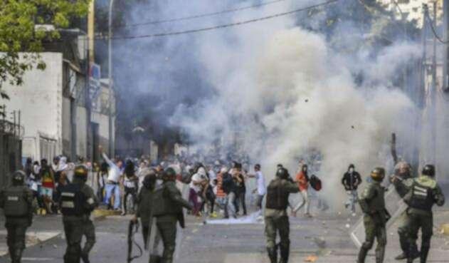 Protestas en Venezuela contra Nicolás Maduro.