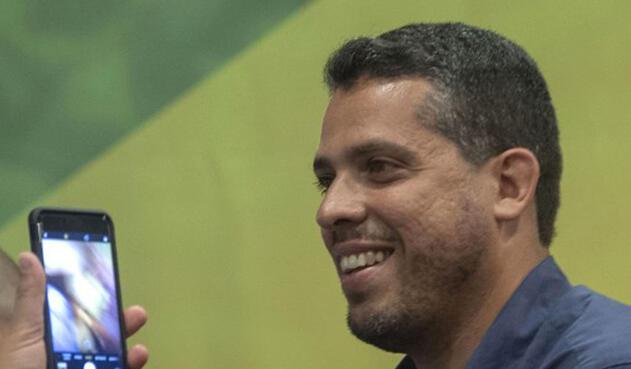 Diputado Rodrigo Amorim, del partido del presidente Jair Bolsonaro.