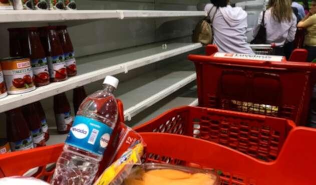 Así luce en supermercado en Caracas, capital de Venezuela