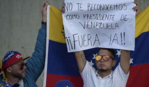 Protestas durante posesión de Nicolás Maduro