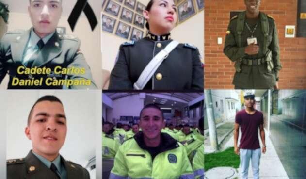 Víctimas del atentado en Bogotá