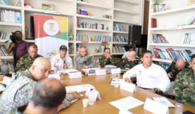 En este encuentro estuvieron los altos mandos militares, representantes de la Defensoria del Pueblo, Procuraduría General y de la Unidad Dptal de Víctimas