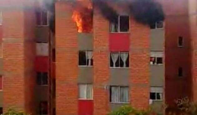 Incendio en apartamento en Fusagasugá