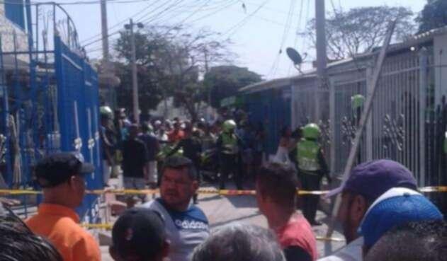 Ataque sicarial en Barranquilla.