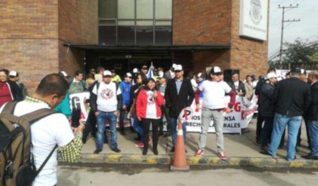 Protestas de escoltas de la UNP