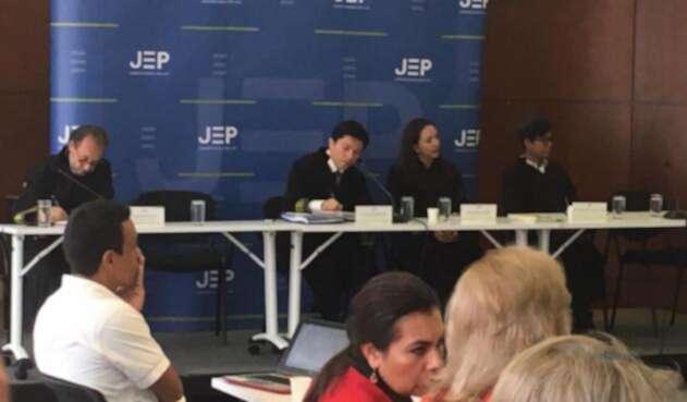 Audiencia en la JEP sobre protección de archivos del DAS