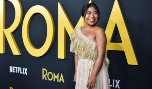 Yalitza Aparicio promocionando 'Roma' en Los Ángeles (California)