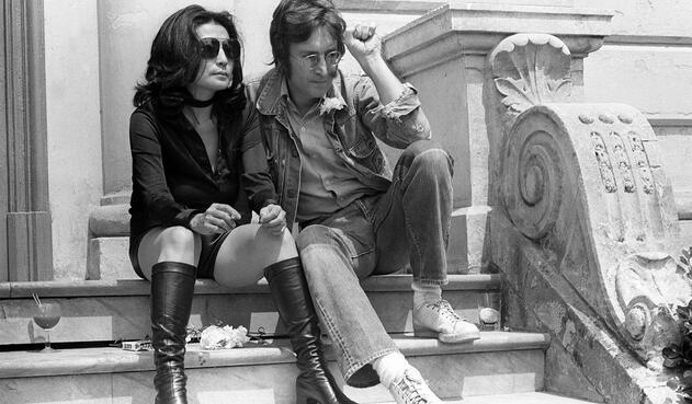 Yoko Ono y John Lennon