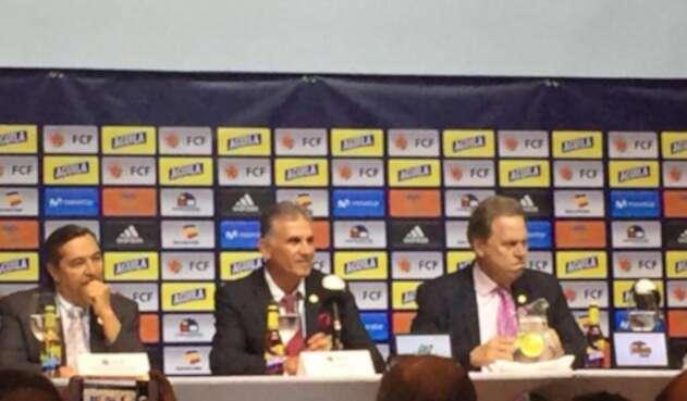Presentación de Carlos Queiroz como nuevo DT de la Selección Colombia