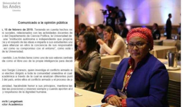 El comunicado de la Universidad de los Andes y la congresista Victoria Sandino