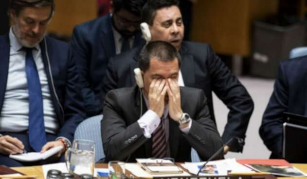 Canciller de Venezuela, Jorge Arreaza en la ONU.