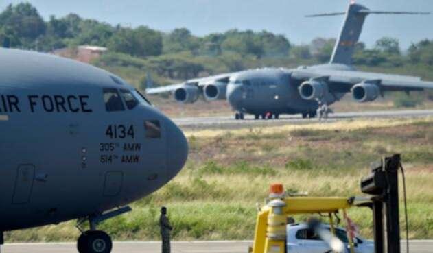 Los aviones C-17 de Estados Unidos que aterrizaron en Cúcuta