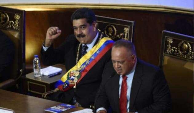 Los líderes chavistas Nicolás Maduro y Diosdado Cabello.