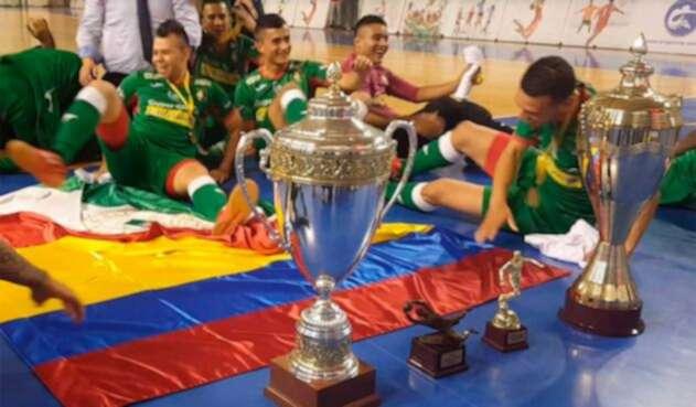 Equipo Caciques del Quindío, campeones de fútbol de salón