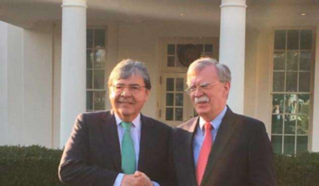 Carlos Holmes Trujillo tuvo un encuentro con John Bolton
