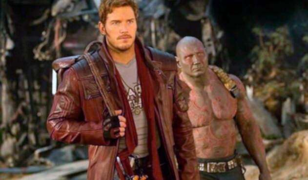 Chris Pratt interpretando a 'Star Lord'