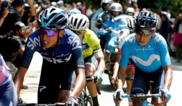 Nairo Quintana y Egan Bernal conservan posibilidades de imponerse en la carrera.