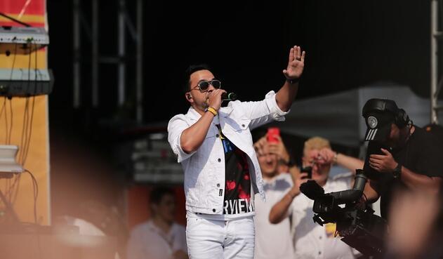 Luis Fonsi en el 'Venezuela Aid Live'