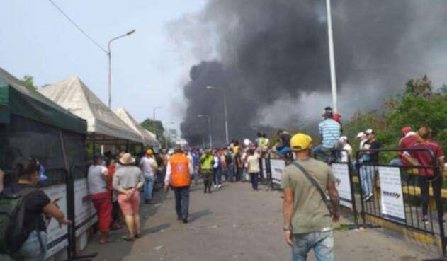 Disturbios en la frontera colombo venezolana