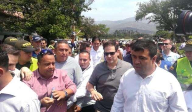 Marco Rubio, senador de La Florida, visitando la zona de frontera colombo-venezolana