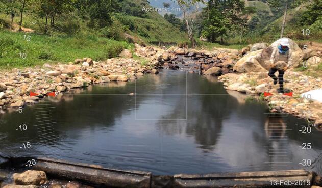 Zona afectada por derrame de crudo luego de atentado a Oleoducto