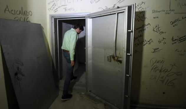 La caja fuerte que Pablo Escobar tenía dentro del edificio Mónaco, en Medellín