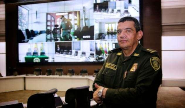 El general Eliécer Camacho, comandante de la Policía Metropolitana en Medellín
