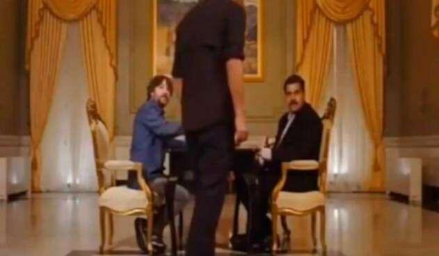 Nicolás Maduro en entrevista en el palacio de Miraflorez