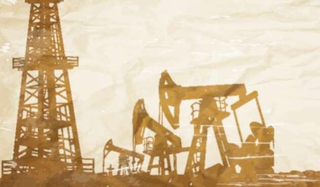 Foto de referencia de la actividad del fracking