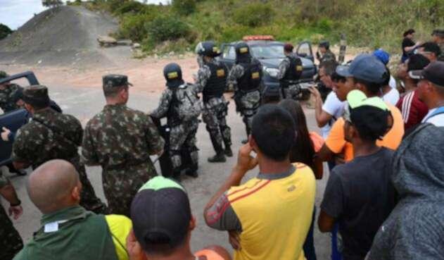 Enfrentamientos en frontera de Brasil con Venezuela