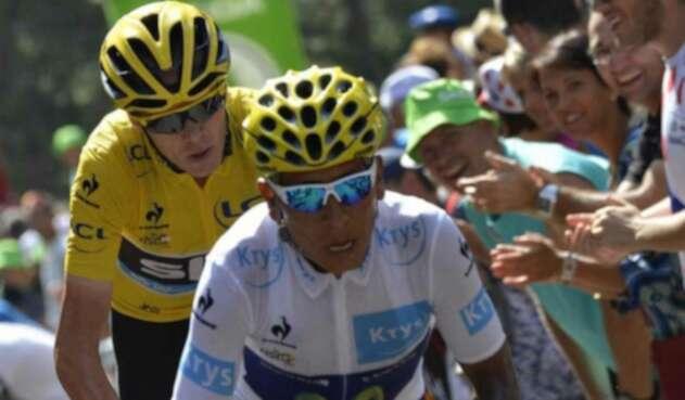 Nairo Quintana y Chris Froome