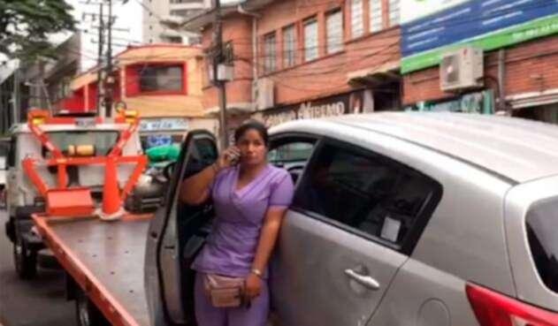 La mujer que permaneció en su carro, en Villavicencio