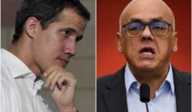 Juan Guaidó y Jorge Rodríguez
